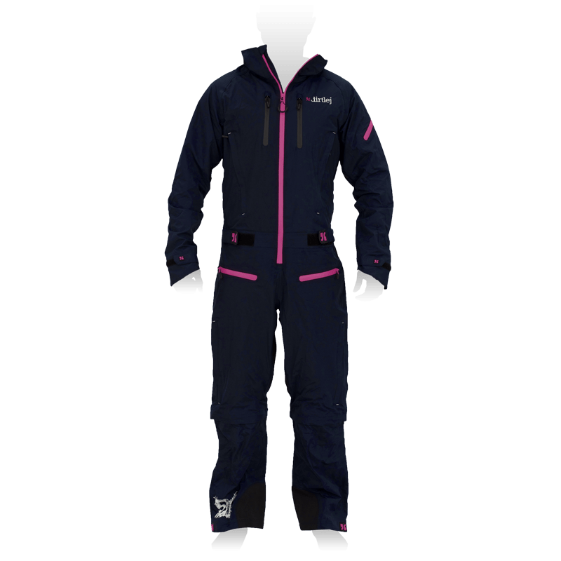 dirtlej dirtsuit core edition dunkelblau / pink
