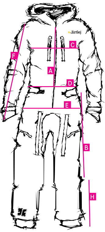 dirtlej dirtsuit core edition measurements